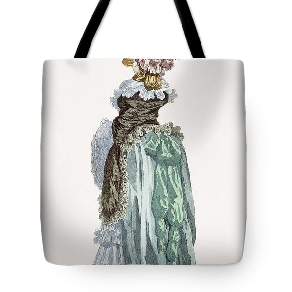 Back View Of A Promenade Gown, Engraved Tote Bag