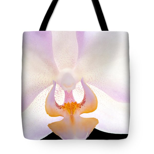 Tote Bag featuring the photograph Backlit Orchid by David Perry Lawrence