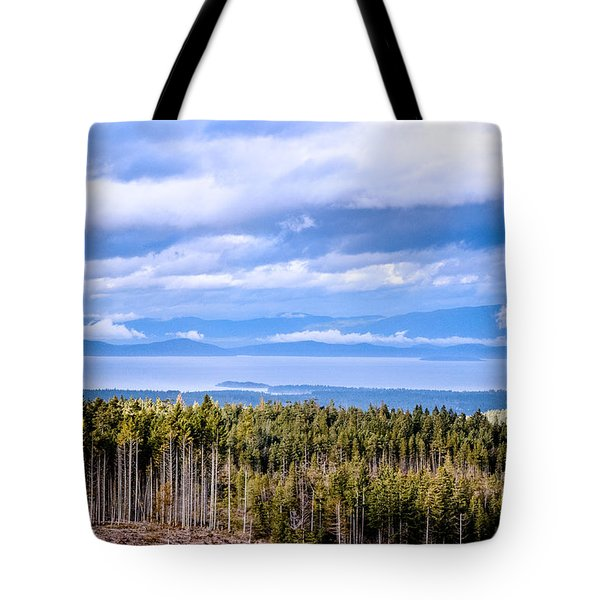 Johnstone Strait High Elevation View Tote Bag