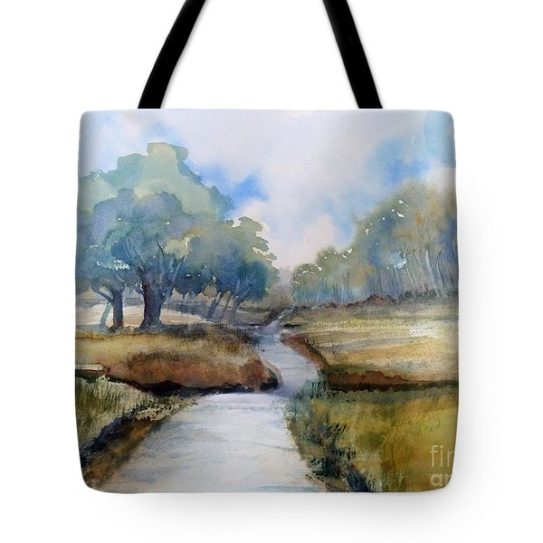 Backroads Of Georgia Tote Bag by Sally Simon