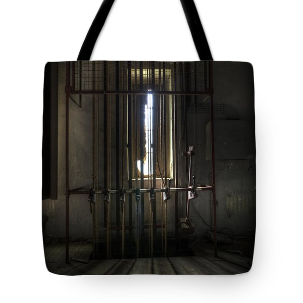 Backstage Control. Tote Bag by Nathan Wright