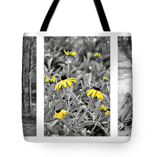 Backwoods Escape Triptych Tote Bag