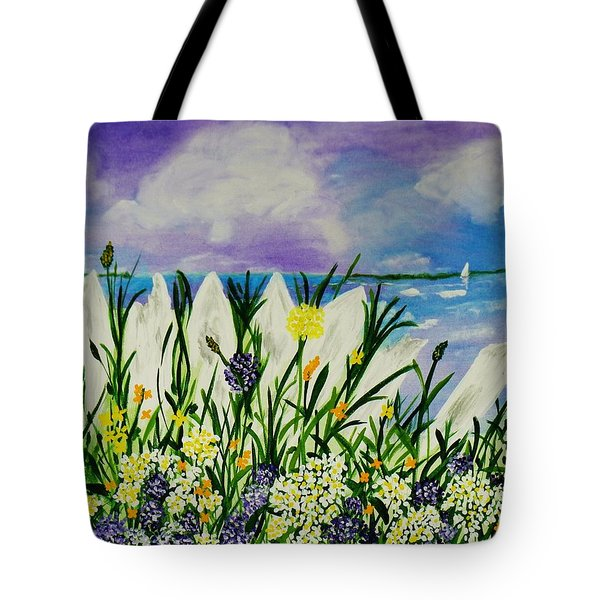 Backyard Beach Tote Bag