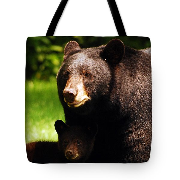 Backyard Bears Tote Bag