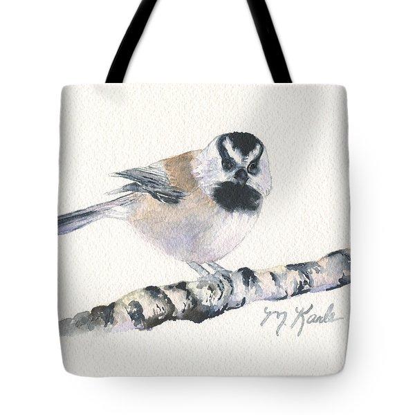 Backyard Busybody - Mountain Chickadee Tote Bag