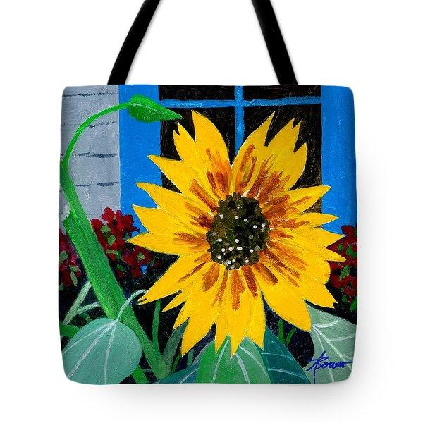 Backyard Flowers  Tote Bag
