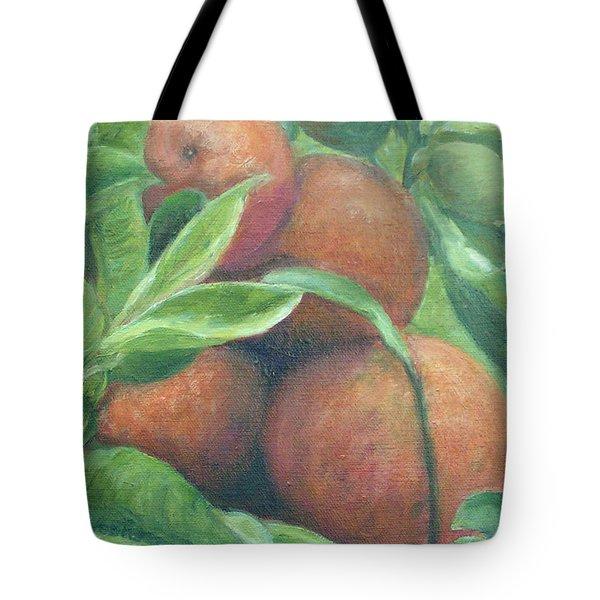 Backyard Oranges Tote Bag