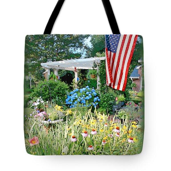 Backyard Paradise Tote Bag