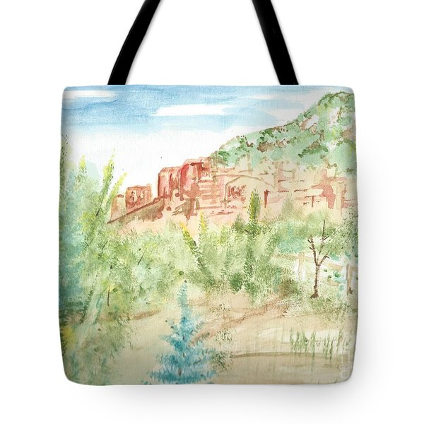 Backyard Sedona Tote Bag