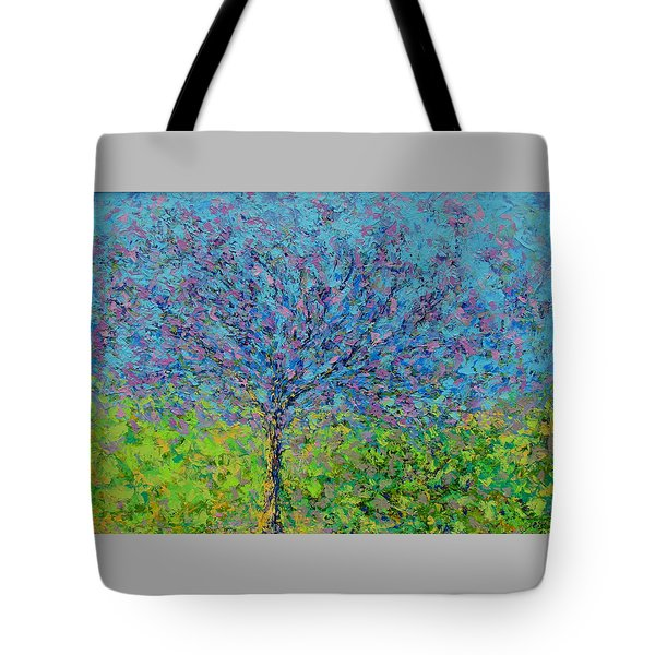 Purple Tree Tote Bag by Kat Griffin