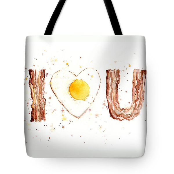 Bacon And Egg I Love You Tote Bag