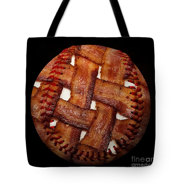 Bacon Weave Baseball Square Tote Bag by Andee Design