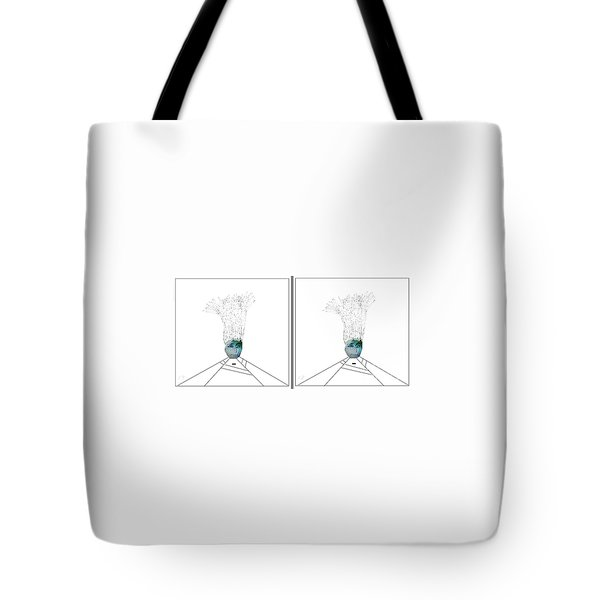 Tote Bag featuring the digital art Bad Hair Day by Ann Calvo
