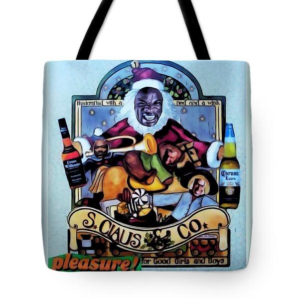 Tote Bag featuring the digital art Bad Santa by Lisa Piper