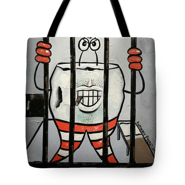 Tote Bag featuring the painting Bad Tooth by Anthony Falbo
