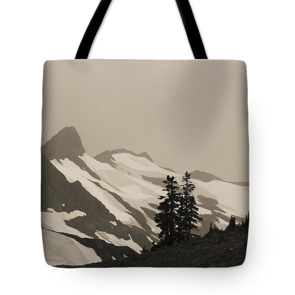 Fog In Mountains Tote Bag