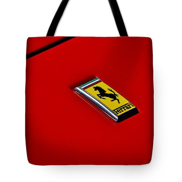 Tote Bag featuring the photograph Badge In Red by Dean Ferreira