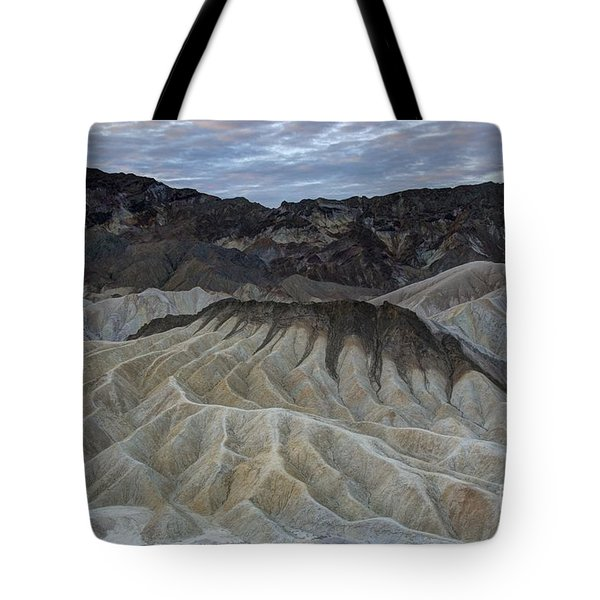 Badlands At Sunrise. Death Valley Tote Bag