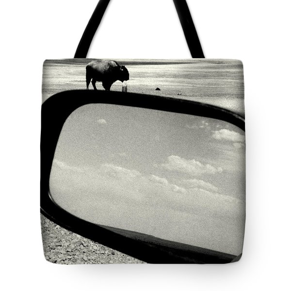 Badlands Bison Climbs Colossal Car Tote Bag