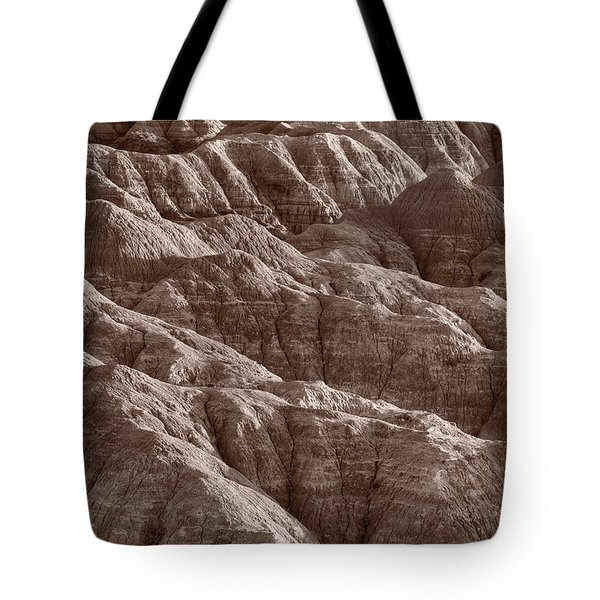 Badlands Light Bw Tote Bag