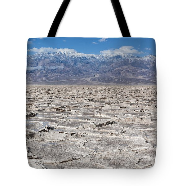 Badwater Basin - Death Valley Tote Bag by Sandra Bronstein