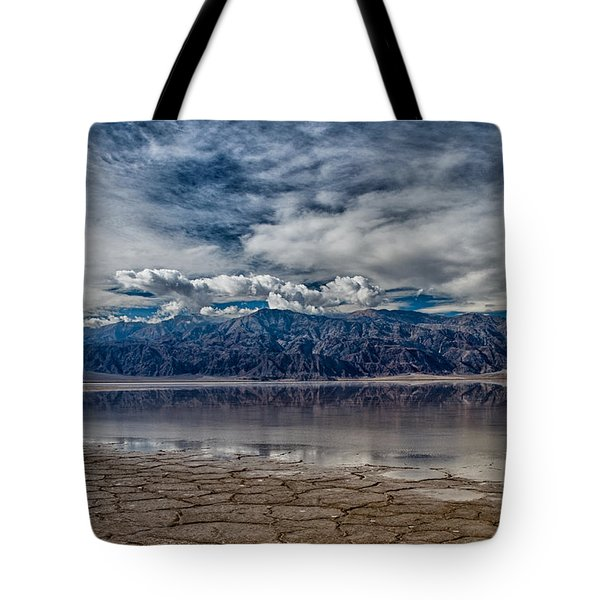 Badwater Reflection Tote Bag by Cat Connor