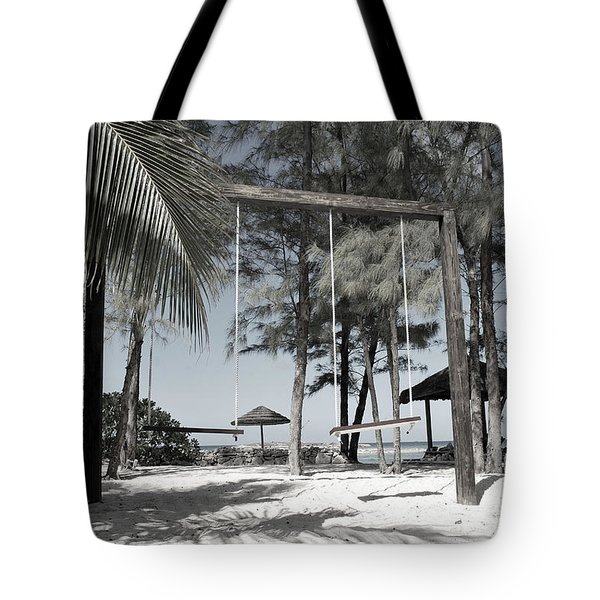 Tote Bag featuring the photograph Bahamas Swings by Bob Sample