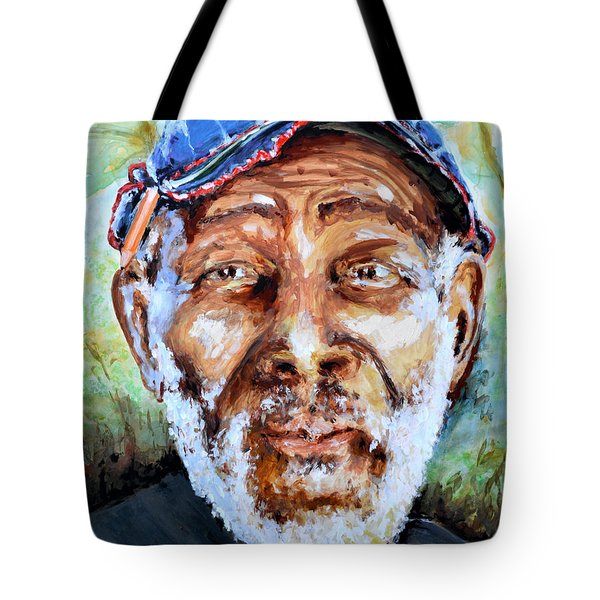 Bahamian Old Man Tote Bag by Victor Minca
