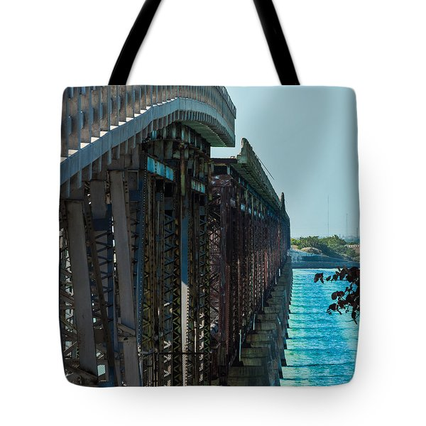 Bahia Honda Bridge Patterns Tote Bag by Ed Gleichman
