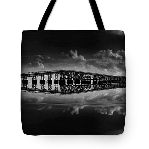 Bahia Honda Bridge Reflection Tote Bag