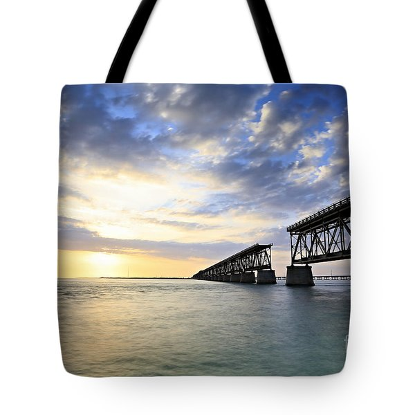 Bahia Honda Old Bridge Tote Bag by Eyzen Medina