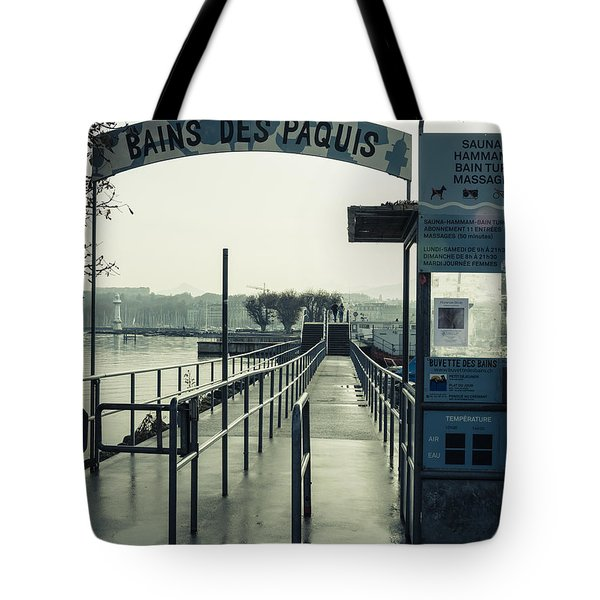 Tote Bag featuring the photograph Bains Des Paquis by Muhie Kanawati