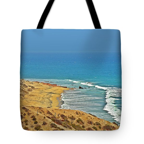 Tote Bag featuring the photograph Baja California - Desert Meets Ocean by Christine Till