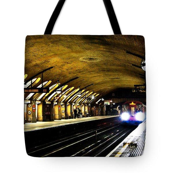 Baker Street London Underground Tote Bag by Mark Rogan