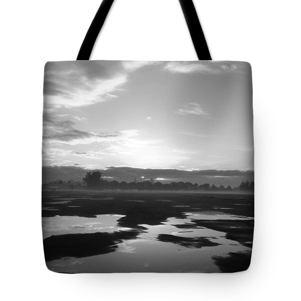 Tote Bag featuring the photograph Bakersfield In Black And White by Meghan at FireBonnet Art