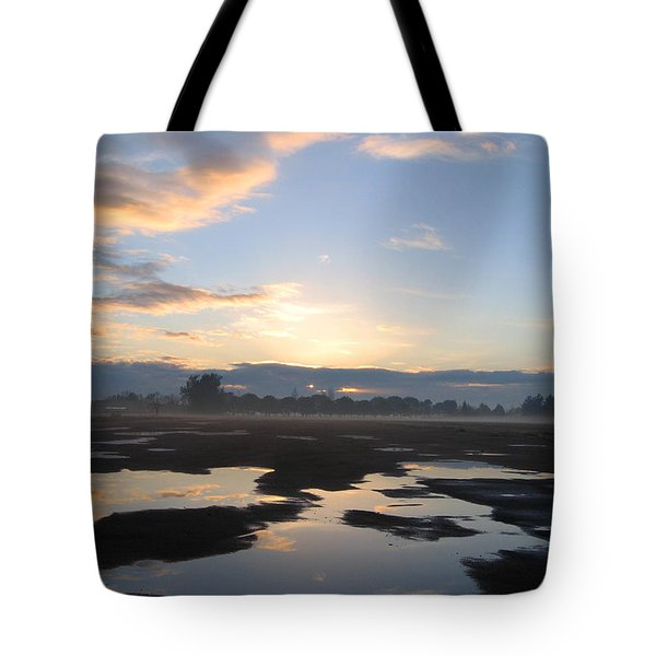 Tote Bag featuring the photograph Bakersfield Sunrise by Meghan at FireBonnet Art