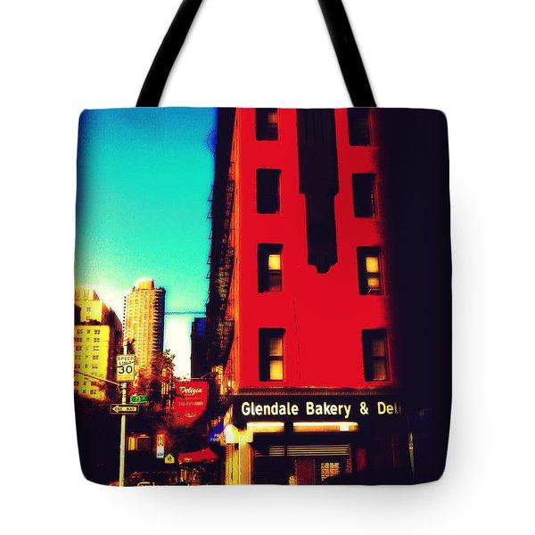The Bakery - New York City Street Scene Tote Bag by Miriam Danar