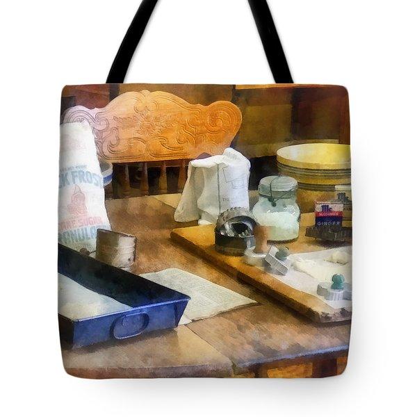 Baking Cookies Tote Bag by Susan Savad