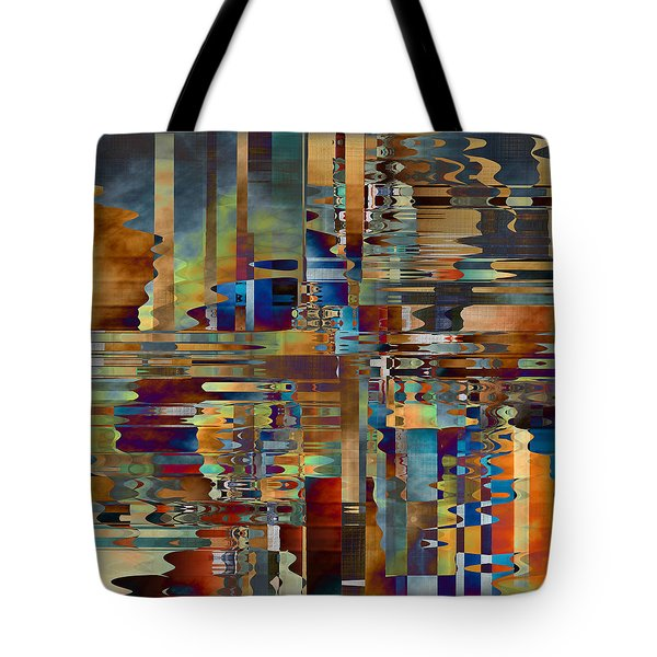 Tote Bag featuring the digital art Balance Of Difference by Kim Redd