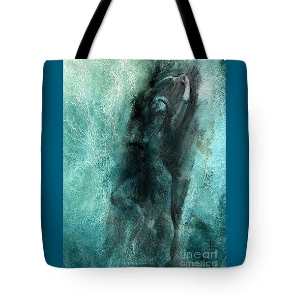 Tote Bag featuring the drawing Balance With Mood Texture by Paul Davenport