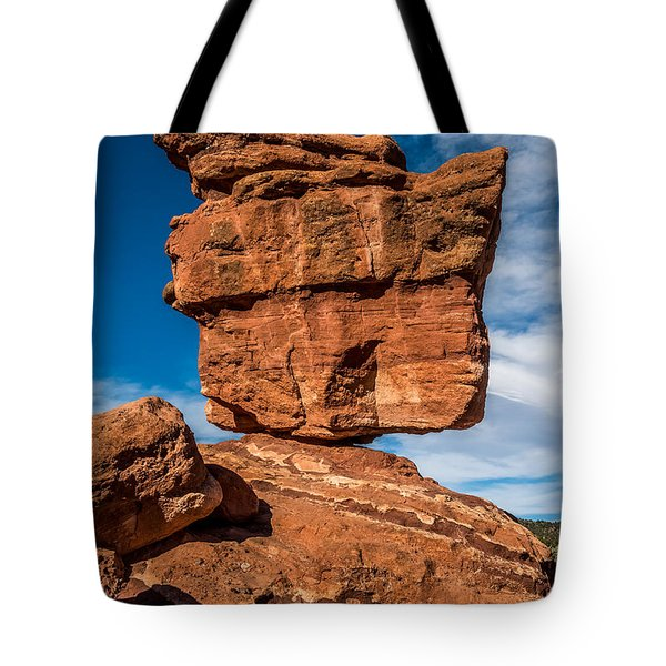Balanced Rock Garden Of The Gods Tote Bag by Paul Freidlund