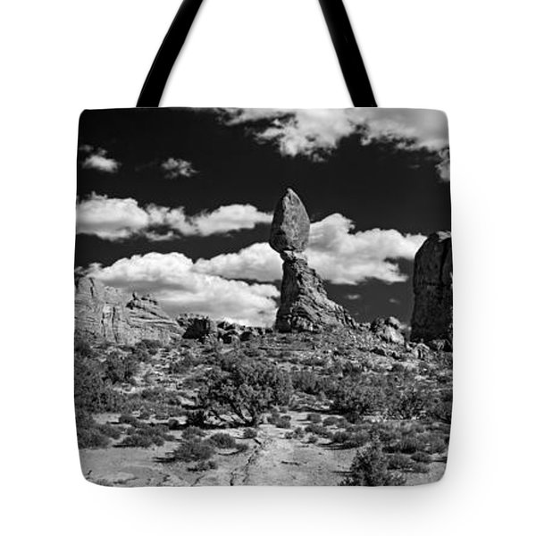 Tote Bag featuring the photograph Balanced Rock by Larry Carr