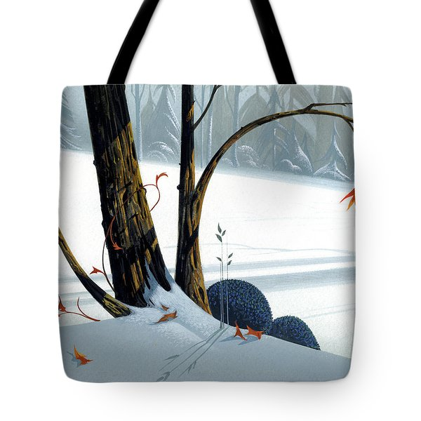 Tote Bag featuring the painting Balancing Act  by Michael Humphries