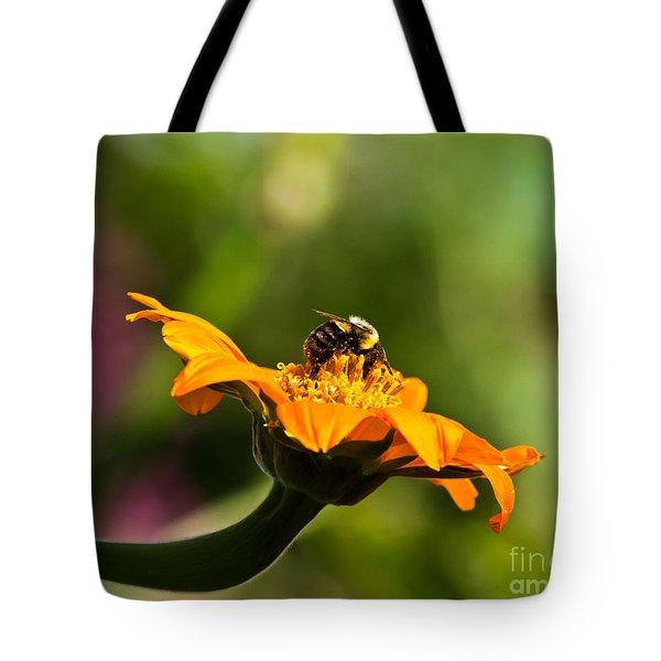 Balancing Bumblebee Tote Bag