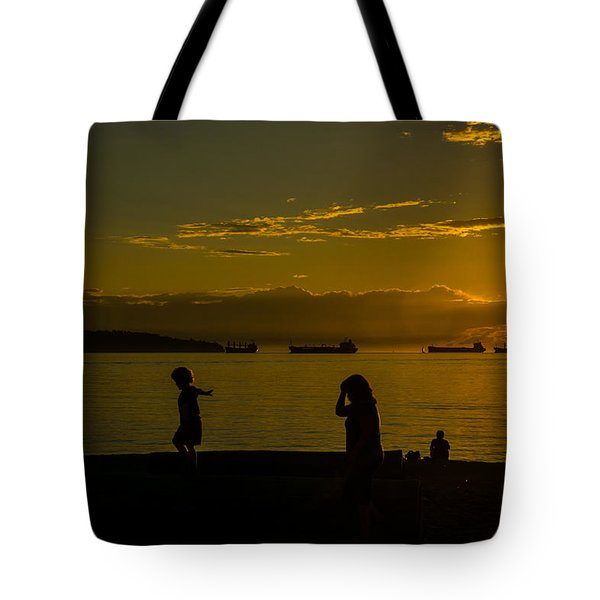 Balancing Into The Sunset Tote Bag