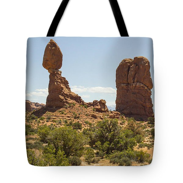 Balancing Rock In Arches Tote Bag