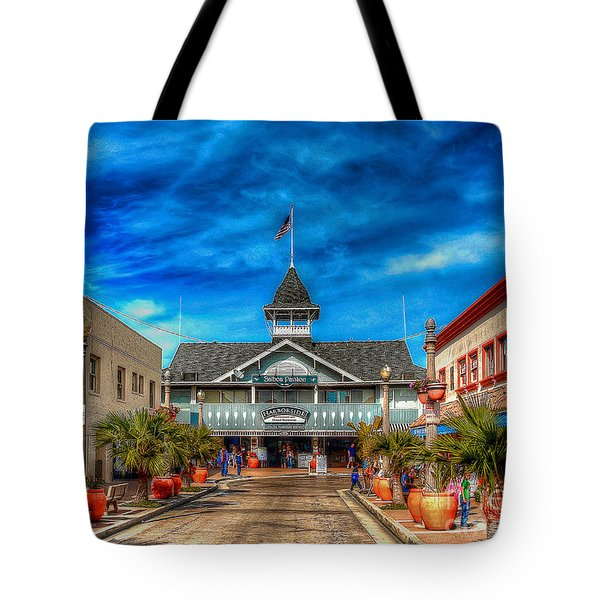 Tote Bag featuring the photograph Balboa Pavilion by Jim Carrell