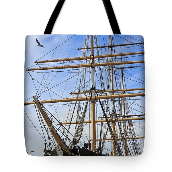 Tote Bag featuring the photograph Balclutha by Kate Brown