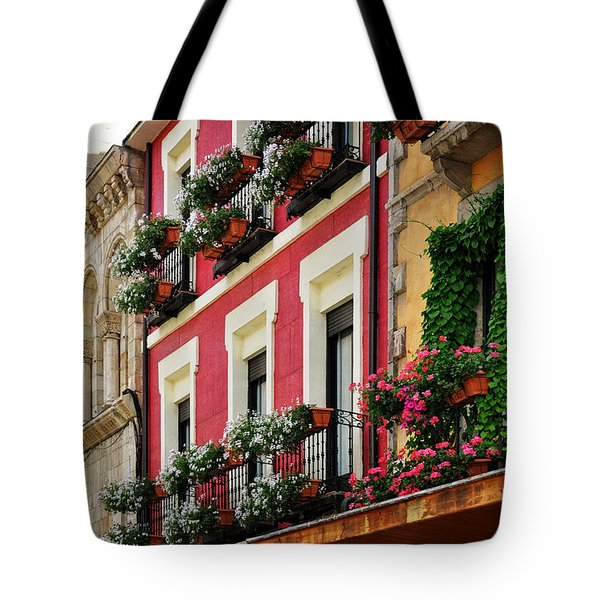 Balconies Of Leon Tote Bag by Mary Machare