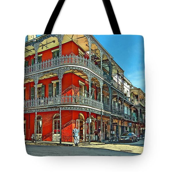 Balconies Painted Tote Bag